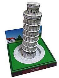 Недорогие -3D пазлы Бумажная модель Наборы для моделирования Башня Знаменитое здание Пизанская башня Своими руками Плотная бумага Классика Детские