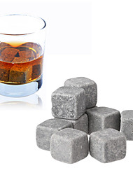 Set of 9 Whisky Ice Stone Cubic Icy Wine Stone with Pouch ,10*10*2cm
