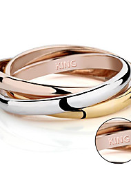 cheap -Lovers ring 18K rose gold prize on the three ring tricyclic ring three piece female ring hot