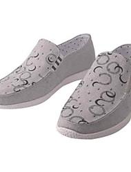 Homens sapatos Tecido Primavera Outono Conforto Mocassins e Slip-Ons Caminhada Ziper para Casual Escritório e Carreira Ao ar livre Bege