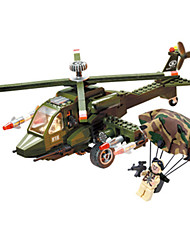 cheap -Building Blocks Block Minifigures Model Building Kit Square Tank Plane / Aircraft Helicopter Helicopter Boys' Unisex Toy Gift