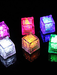 cheap -Diamond Ice Cube Shaped Colorful LED Light (12-Pack)