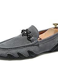 preiswerte -Herrn Schuhe Schweineleder / Leder Sommer / Herbst Komfort Loafers & Slip-Ons Walking Schwarz / Grau / Blau