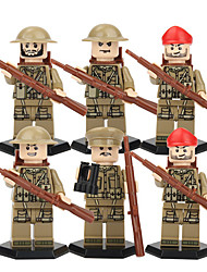 cheap -DILONG Building Blocks / Block Minifigures / Educational Toy 105 pcs Military / Warrior Unisex Gift