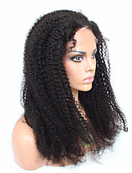 Kinky Curly Lace Frontal Wigs Pre Plucked Natural Color 120 Density Remy Hair Peruvian Lace Front Wigs 20-24 Inches
