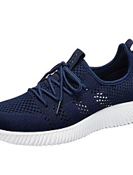 Men's Sneakers Light Soles Spring Fall Tulle Fitness & Cross Training Casual Outdoor Lace-up Flat Heel Black Blue 3in-3 3/4in