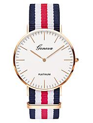 abordables -Geneva Hombre Cuarzo Reloj de Pulsera Chino Nailon Banda Lujo / Vintage / Casual / Elegant / Moda Negro / Marrón
