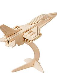 abordables -Puzzles 3D Puzzle Modèle en bois Avion Chasseur Bâtiment Célèbre Architecture 3D A Faire Soi-Même Bois Classique 6 ans et plus