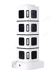 Ci connetta quattro connettori di potenza con 16 prese e 2 porte usb