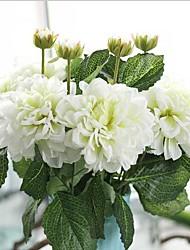 5 Pièces 5 Une succursale Soie Autres Fleur de Table Fleurs artificielles