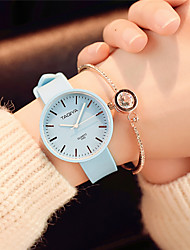 cheap -Women's Fashion Watch Wrist watch Chinese Quartz Silicone Band Candy color Casual Elegant Minimalist Black White Green Pink Navy