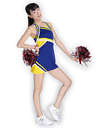 Cheerleader Costumes Dresses Women's Performance Knitwear Splicing 1 Piece Sleeveless High Dresses