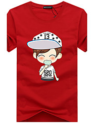 New Arrival 10 Colors S-5XL  Men's Plus Size Casual/Daily Simple Active Summer T-shirt Letter Print Round Neck Short Sleeve Cotton Thin Hot Sale