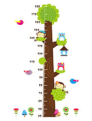 cheap -Wall Stickers Wall Decas Style Cartoon Animals Measure Your Height PVC Wall Stickers