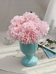 cheap -Flowers Export Foreign Trade Fake Wedding Bouquet Hydrangea Simulation Silk Flowers Home Decoration