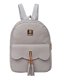 Women Bags All Seasons PU Backpack for Casual Black Blushing Pink Gray