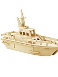 baratos -Robotime Quebra-Cabeças 3D Quebra-Cabeça Modelos de madeira Barco de Guerra Leão Faça Você Mesmo Madeira Madeira Natural Crianças Unisexo
