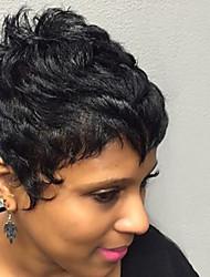 economico -Parrucche ricci di capelli umani brevi e rinfrescanti