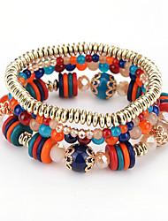 preiswerte -Damen Strang-Armbänder Modisch Böhmen-Art Kunststoff Runde Form Schmuck Für Geburtstag Party / Abend Alltagskleidung