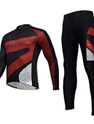 billiga -KEIYUEM Herr / Dam Långärmad Cykeltröja och tights Cykel Cykling Tights / Klädesset, Vindtät, Vattentät, 3D Tablett, Snabb tork, Andningsfunktion Lappverk / Elastisk