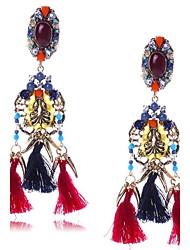 abordables -Mujer Borla / Largo Pendientes colgantes - Borla, De Gran Tamaño Arco iris Para Boda / Fiesta / Regalo