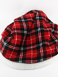 cheap -Cat Dog Bed Pet Baskets Plaid/Check Gray Red For Pets