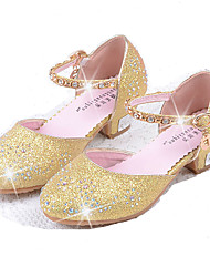 cheap -Girls' Shoes PU Spring & Summer Comfort / Flower Girl Shoes Flats Rhinestone / Sequin for Silver / Blue / Pink