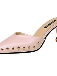 abordables -Femme Chaussures Polyuréthane Eté Confort Chaussures à Talons Marche Talon Bas Bout ouvert Beige / Jaune / Rose