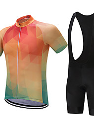 cheap -FUALRNY® Cycling Jersey with Bib Shorts Men's Short Sleeves Bike Clothing Suits Bike Wear Quick Dry Moisture Permeability Reduces Chafing