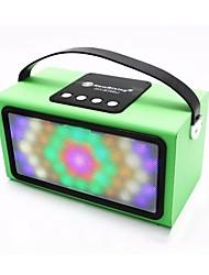 HY-BT98L Speaker Altavoz Bluetooth Wood Square Woofer Vibration Led Light Handle Portable Radio FM Handsfree Call Caixa De Som