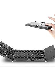 cheap -Portable Twice Folding Bluetooth Keyboard BT Wireless Foldable Touchpad Keypad for IOS/Android/Windows Tablet
