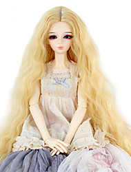 cheap -Synthetic Doll Accessories Long Kinky Curly Dark Blonde Color Middle Centre Hair for 1/3 1/4 Bjd SD DZ MSD Doll Costume Wigs Not for Human Adult
