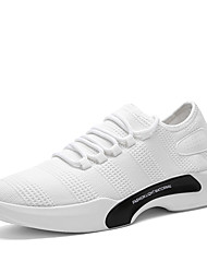 cheap -Men's Shoes Knit Spring Summer Vulcanized Shoes Comfort Athletic Shoes Running Shoes Draped For Athletic Gray Black White
