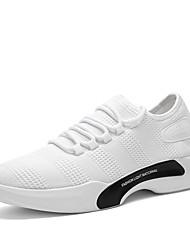 Hombre Zapatos Punto Primavera Verano Confort Vulcanizado Zapatos Zapatillas de Atletismo Running En Cortina Para Deportivo Blanco Negro