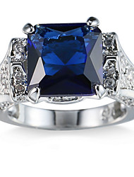 cheap -Women's Cubic Zirconia Ring Settings / Band Ring / Ring - Friends Personalized, Luxury, Geometric 6 / 7 / 8 Royal Blue For Christmas / Party / Halloween / Anniversary / Birthday / Housewarming