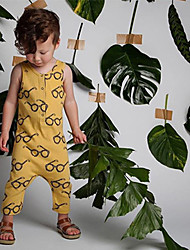 cheap -Baby Children's Solid Colored Fashion One-Pieces