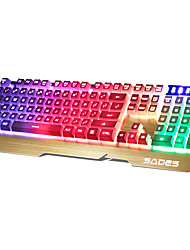 cheap -SADES 104 Keys USB port Backlit gaming Keyboard With 180CM Cable