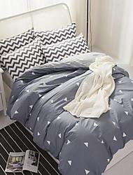 cheap -Curve 4 Piece Cotton Cotton 4pcs (1 Duvet Cover, 1 Flat Sheet, 2 Shams)