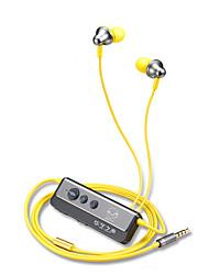 billige -I øret Med ledning Hodetelefoner Plast Sport og trening øretelefon Med mikrofon Headset