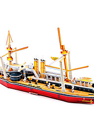 Недорогие -3D пазлы Пазлы Наборы для моделирования Знаменитое здание Корабль Своими руками Плотная бумага Классика Аниме Мультяшная тематика Детские Универсальные Игрушки Подарок