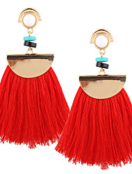 cheap -Women's Drop Earrings / Pendant / Dangle Earrings - Personalized, Luxury, Geometric Red / Pink / Lake Blue For Christmas / Christmas Gifts / Wedding / Tassel