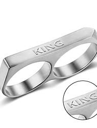 cheap -Titanium rings Europe punk style exquisite polishing ring laser engraving