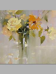 abordables -Peint à la main A fleurs/Botanique Format Horizontal, Artistique Toile Peinture à l'huile Hang-peint Décoration d'intérieur Un Panneau