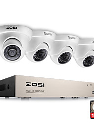 economico -Zosi® 4ch 1080p sistema di sicurezza video hd con 4x 2.0mp 1080p telecamere dome resistenti alle intemperie 1tb hard disk