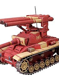 abordables -Coches de juguete Puzzles 3D Maqueta de Papel Juguetes Cuadrado Tanque Cuadriga Papel duro No Especificado Piezas