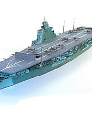 abordables -Puzzles 3D Maquette en Papier Navire de Guerre Porte-avion A Faire Soi-Même Papier cartonné Porte-avion Enfant Unisexe Cadeau