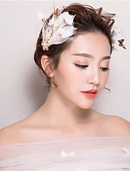economico -piuma fiori capelli clip copricapo classico stile femminile