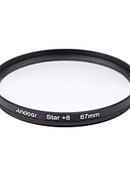 Andoer 67mm Filter Set UV  CPL  Star 8-Point Filter Kit with Case for Canon Nikon Sony DSLR Camera Lens