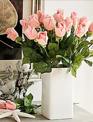 baratos -Flores artificiais 5 Ramo Europeu Rosas Flor de Mesa