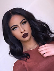 Short Bob Full Lace Wigs 8''-14'' Brazilian Human Hair Lace Wigs with Baby Hair 130% Density Short Hair Natural Hairline 100% Human Hair Natural Color